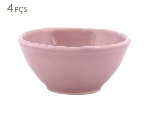 Jogo de Bowls Bambu Rosa - 04 Pessoas, Rosa | WestwingNow