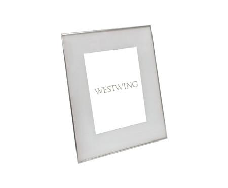 Porta-Retrato de Vidro e Metal Annie - Prateado | WestwingNow