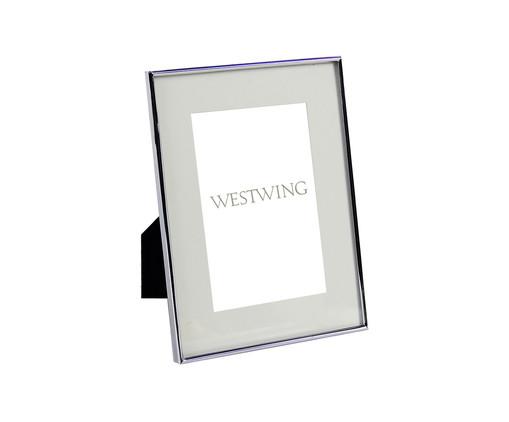 Porta-Retrato de Vidro e Metal Annie - Prateado, Prata / Metálico | WestwingNow