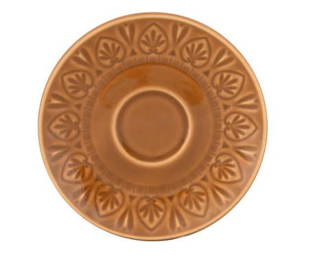 Jogo de Xícaras para Chá com Pires Mandala Turca Ocre - 04 Pessoas | WestwingNow