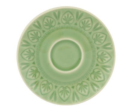 Jogo de Xícaras para Chá com Pires Mandala Turca Verde Nilo - 04 Pessoas | WestwingNow