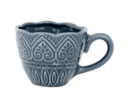 Jogo de Xícaras para Chá com Pires Mandala Turca Azul - 04 Pessoas | WestwingNow