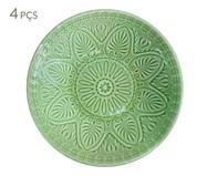 Jogo de Pratos Fundos Mandala Turca Verde Nilo - 04 Pessoas | WestwingNow