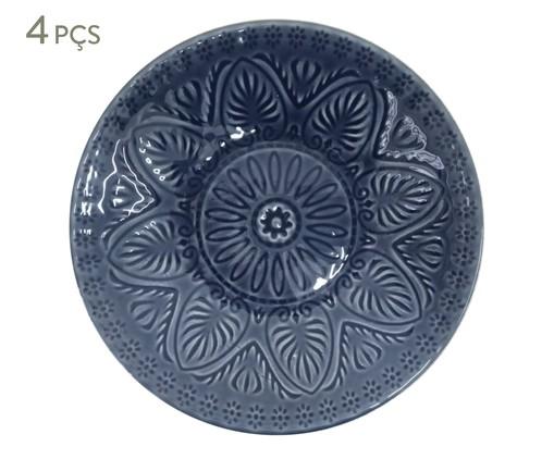 Jogo de Pratos Fundos Mandala Turca - Azul, Azul | WestwingNow