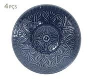 Jogo de Pratos Fundos Mandala Turca Azul - 04 Pessoas | WestwingNow