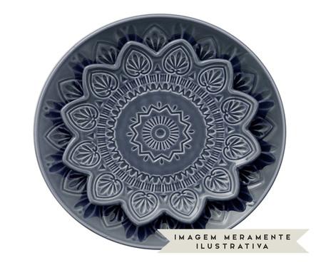 Jogo de Pratos para Sobremesa Mandala Turca Azul - 04 Pessoas | WestwingNow