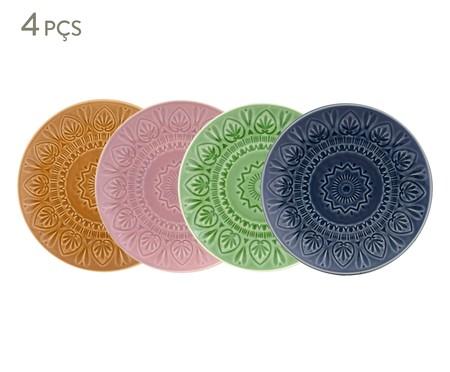 Jogo de Pratos Rasos Mandala Turca Colors - 04 Pessoas | WestwingNow