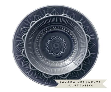 Jogo de Pratos Rasos Mandala Turca Azul - 04 Pessoas | WestwingNow