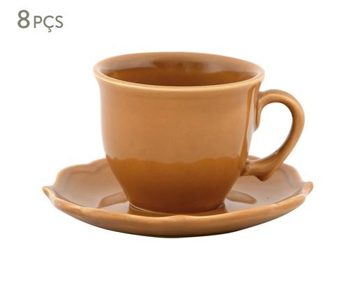 Jogo de Xícaras para Chá com Pires Portal Ocre - 04 Pessoas, Ocre | WestwingNow