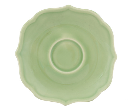 Jogo de Xícaras para Chá com Pires Portal Verde Nilo - 04 Pessoas, Verde | WestwingNow