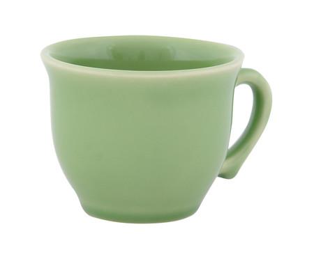 Jogo de Xícaras para Chá com Pires Portal Verde Nilo - 04 Pessoas | WestwingNow