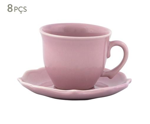 Jogo de Xícaras para Chá com Pires Portal Rosa - 04 Pessoas, Rosa | WestwingNow