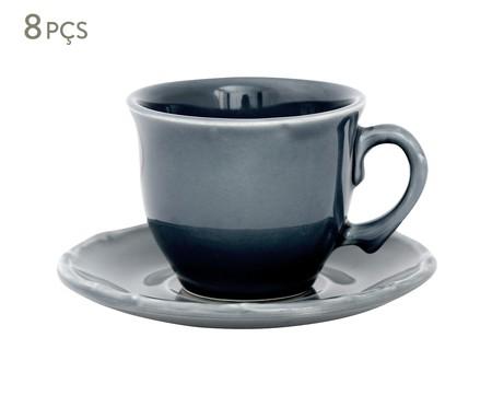 Jogo de Xícaras para Chá com Pires Portal - Azul   WestwingNow
