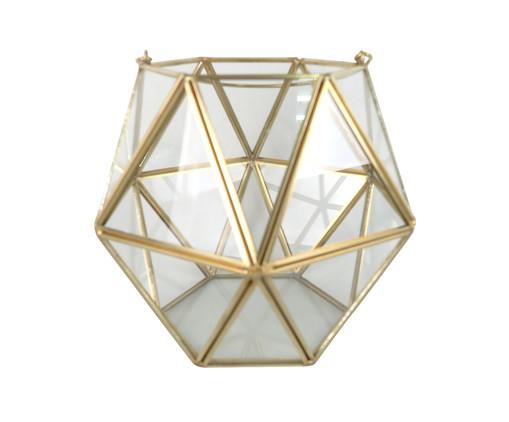 Vaso Pavuna - Transparente e Dourado, Dourado, Transparente | WestwingNow