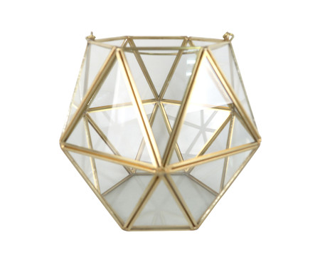 Vaso Pavuna - Transparente e Dourado | WestwingNow
