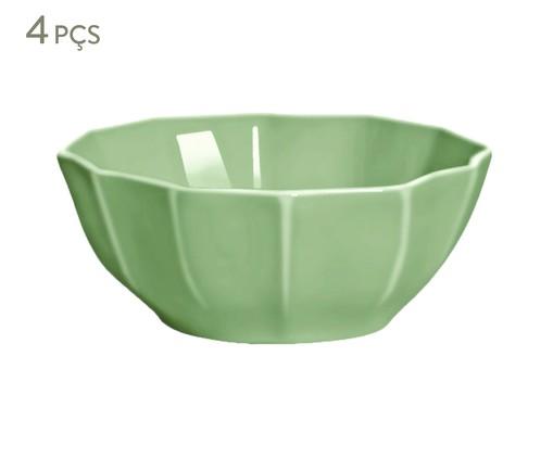 Jogo de Bowls Portal Verde Nilo - 04 Pessoas, Verde   WestwingNow