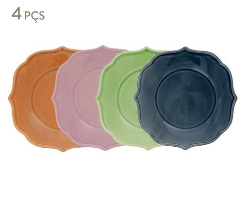 Jogo de Pratos para Sobremesa Portal Colors - 04 Pessoas, Colorido | WestwingNow
