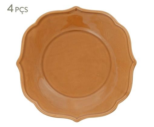 Jogo de Pratos para Sobremesa Portal Ocre - 04 Pessoas, Ocre | WestwingNow