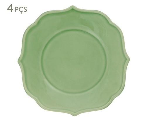 Jogo de Pratos para Sobremesa Portal Verde Nilo - 04 Pessoas, Verde | WestwingNow