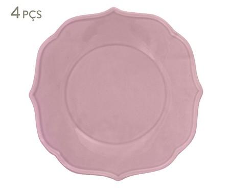 Jogo de Pratos para Sobremesa Portal Rosa - 04 Pessoas | WestwingNow