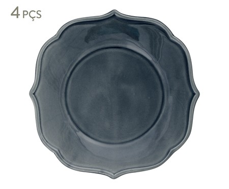 Jogo de Pratos para Sobremesa Portal - Azul | WestwingNow