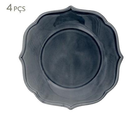 Jogo de Pratos Rasos Portal Azul - 04 Pessoas | WestwingNow