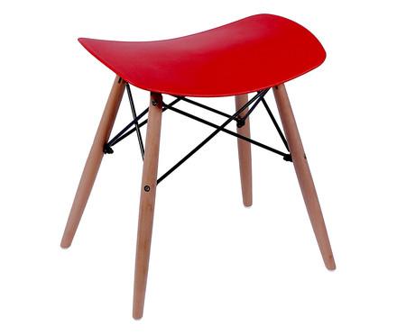 Banquinho Eames Wood - Vermelho | WestwingNow