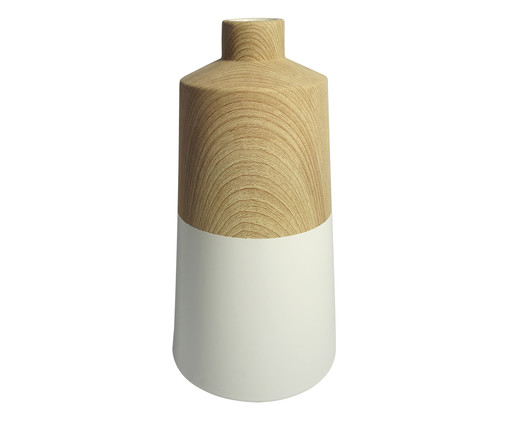 Vaso Zelfa - Branco e Marrom, Branco, Bege | WestwingNow