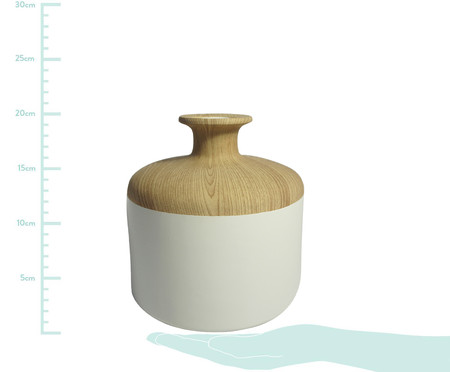 Vaso de Cerâmica Chuck Vinga - Branco e Bege | WestwingNow