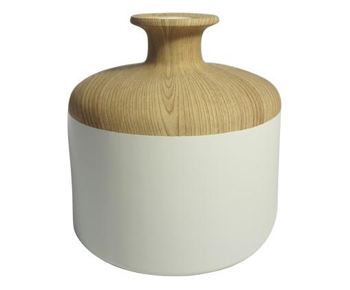 Vaso de Cerâmica Chuck Vinga - Branco e Bege, Branco, Bege | WestwingNow