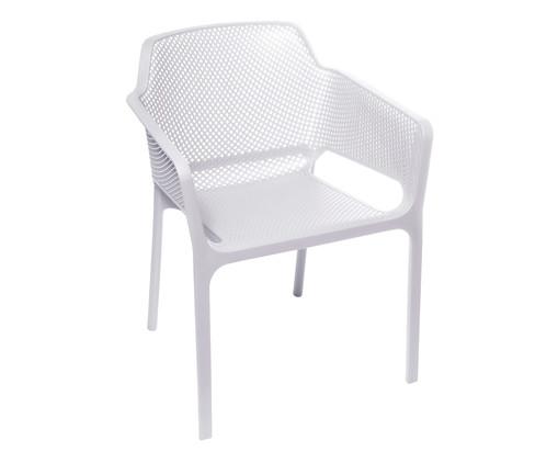 Cadeira Vega com Braço - Branca, Branco | WestwingNow