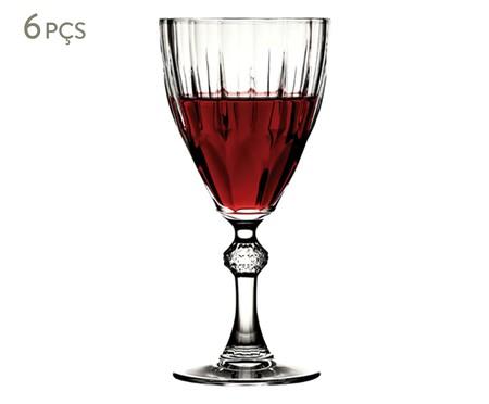 Jogo de Taças para Vinho em Vidro Gino 06 Pessoas - Transparente | WestwingNow