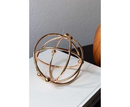 Adorno Taylor Redondo em Metal - Dourado | WestwingNow