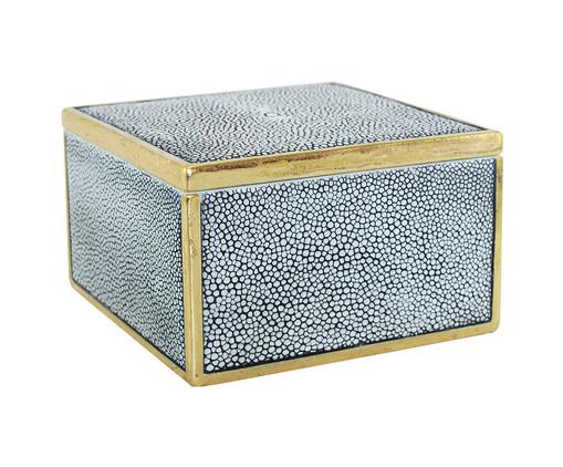 Caixa Decorativa Jade - Azul, Azul, Dourado | WestwingNow