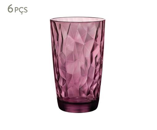 Jogo de Copos para Drinks de Vidro Emilia - Roxo, transparente | WestwingNow