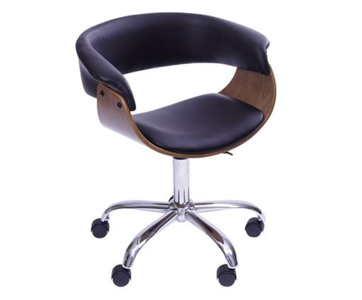 Cadeira de Escritório com Rodízios Elba - Preta, Preto | WestwingNow