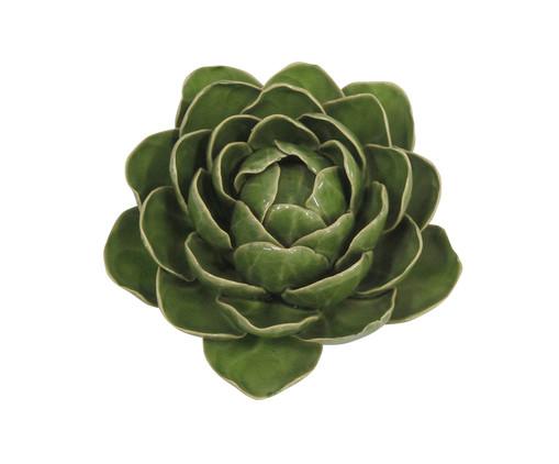 Adorno Menora de Flor em Ceramica - Verde, Verde | WestwingNow