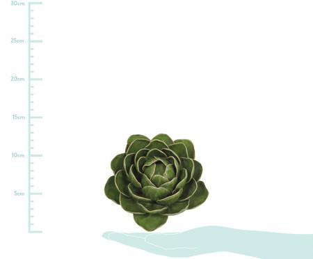 Adorno Menora de Flor em Ceramica - Verde | WestwingNow