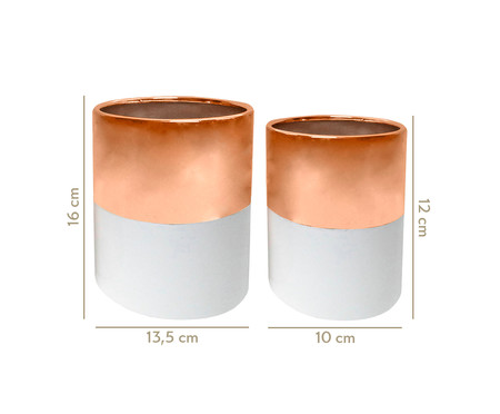 Jogo de Vasos Cerâmica Mira - Rosé e Branco | WestwingNow