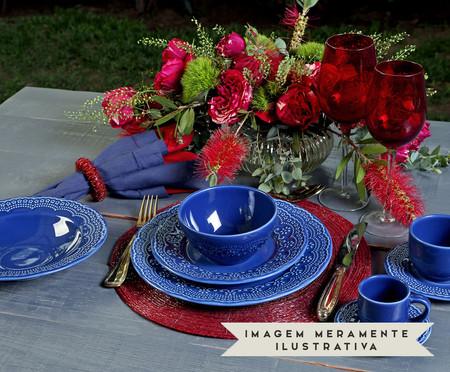 Jogo de Pratos Fundos em Cerâmica Madeleine 06 Pessoas - Azul Navy | WestwingNow