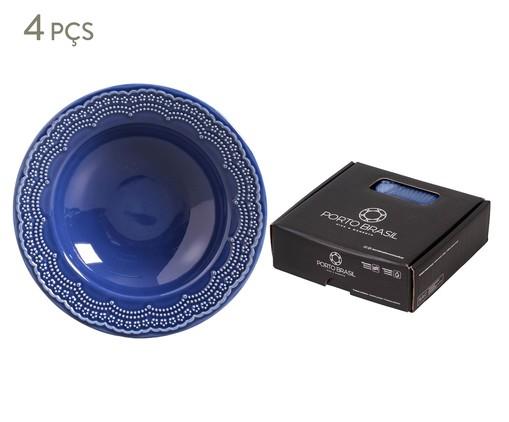 Jogo de Pratos Fundos em Cerâmica Madeleine 06 Pessoas - Azul Navy, Azul | WestwingNow