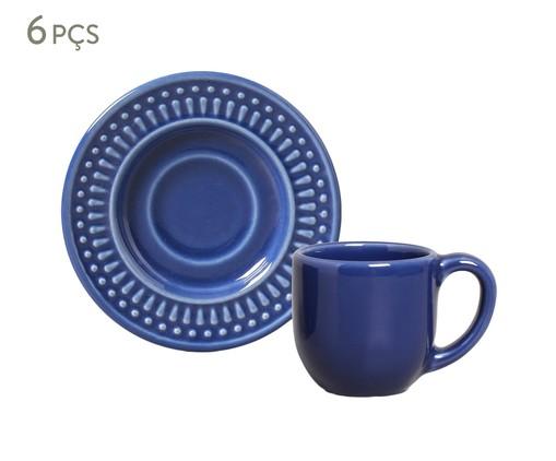 Jogo de Xícaras De Cerâmica para Café 75 ml Roma - Azul Navy, Azul | WestwingNow
