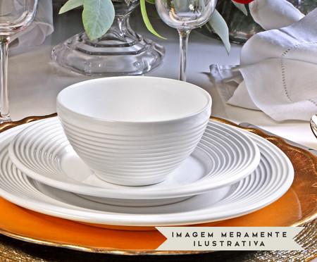 Jogo de Pratos Rasos em Cerâmica Argos 06 Pessoas - Branco | WestwingNow