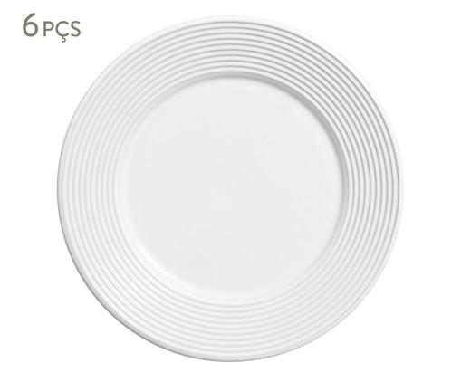 Jogo de Pratos Rasos em Cerâmica Argos 06 Pessoas - Branco, Branco | WestwingNow