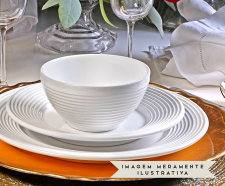 Jogo de Pratos Fundos em Cerâmica Argos 06 Pessoas - Branco | WestwingNow
