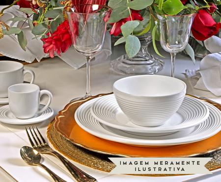 Jogo de Xícaras para Café e Pires em Cerâmica Argos 06 Pessoas - Branco | WestwingNow