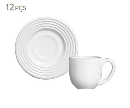 Jogo de Xícaras para Café e Pires em Cerâmica Argos Branco - 06 Pessoas | WestwingNow