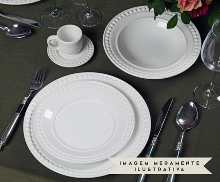 Jogo de Pratos para Sobremesa em Cerâmica Atenas - Branco | WestwingNow