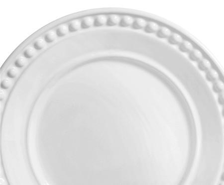 Jogo de Pratos para Sobremesa em Cerâmica Atenas Branco - 06 Pessoas | WestwingNow