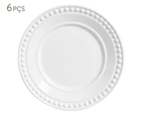 Jogo de Pratos para Sobremesa em Cerâmica Atenas 06 Pessoas - Branco | WestwingNow
